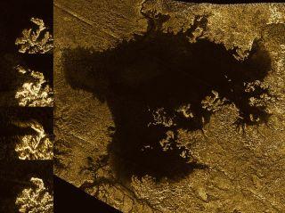 Cassini View of Titan Lake