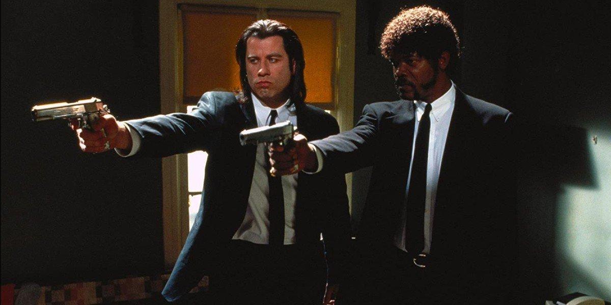 John Travolta and Samuel L. Jackson in Pulp Fiction