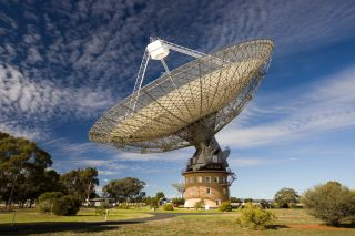 CSIRO's Parkes radio telescope, also called The Dish, located in Australia.