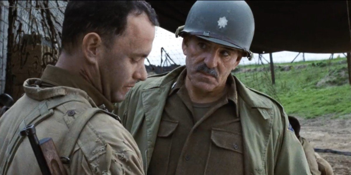 Dennis Farina and Tom Hanks in Saving Private Ryan