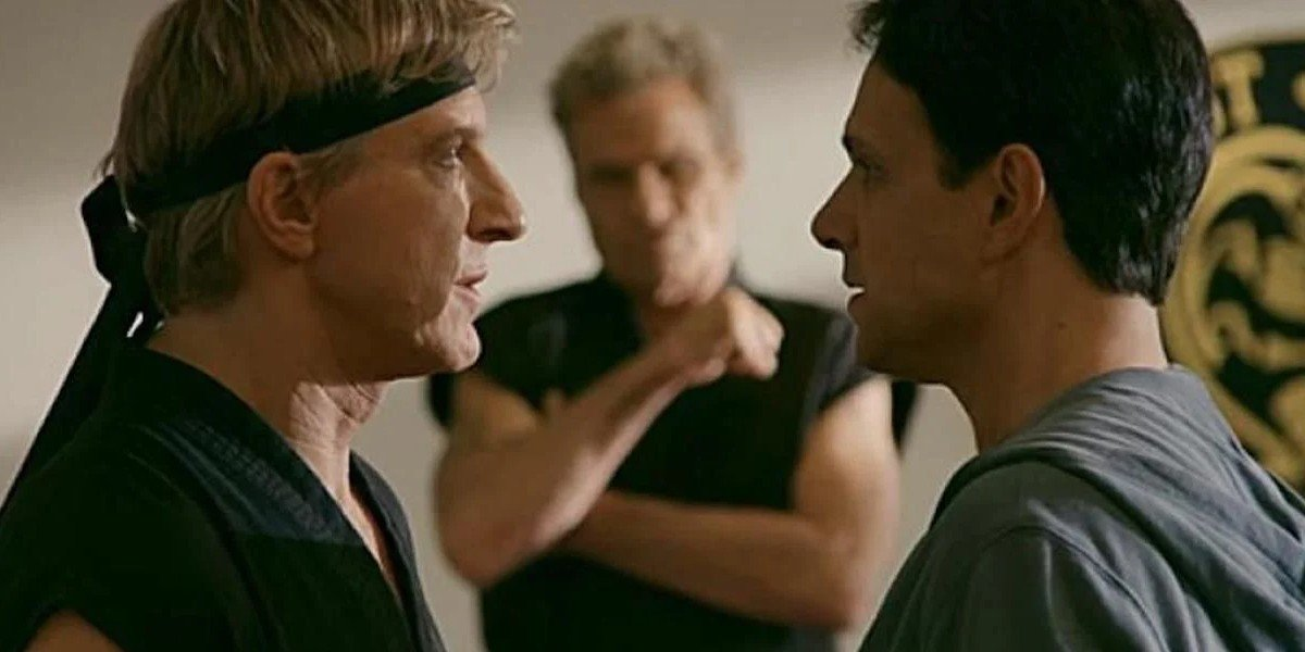 William Zabka as Johnny Lawrence and Ralph Macchio as Daniel LaRusso on Cobra Kai (2019)