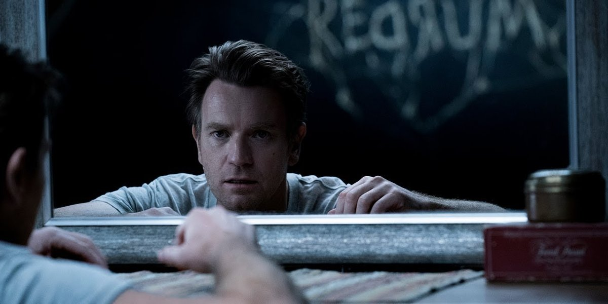 Doctor Sleep Danny sees a message in the mirror