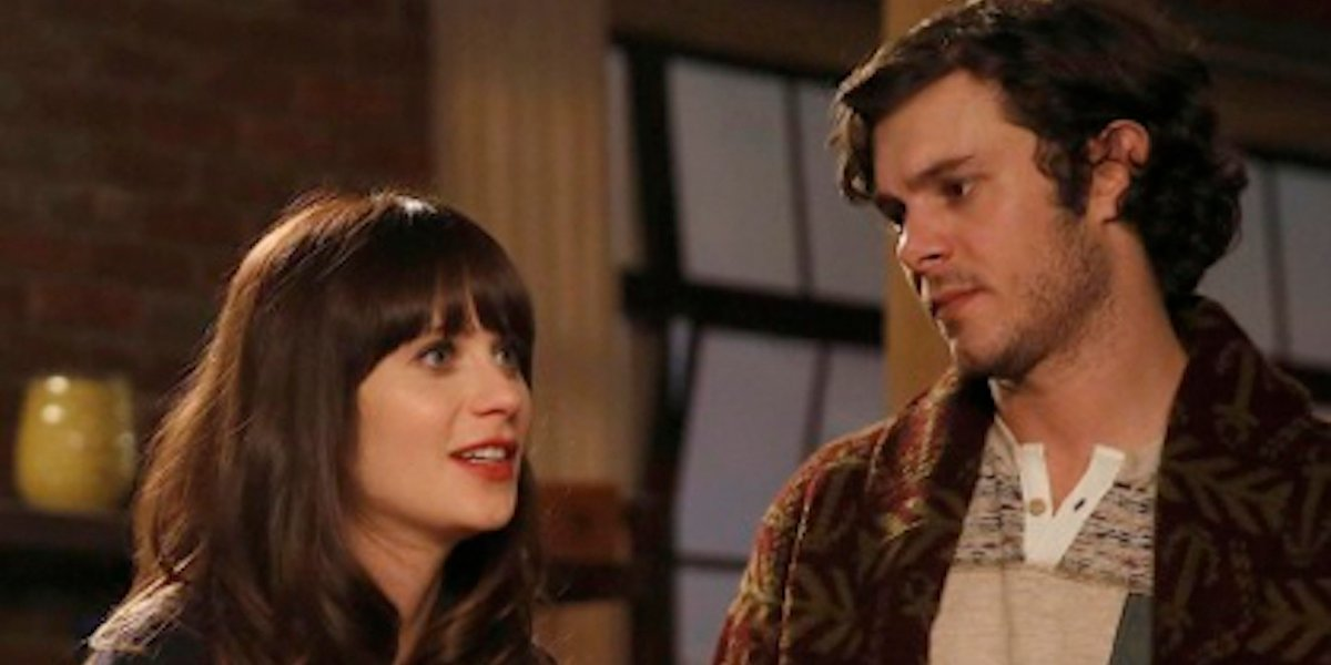 Zooey Deschanel and Adam Brody in New Girl