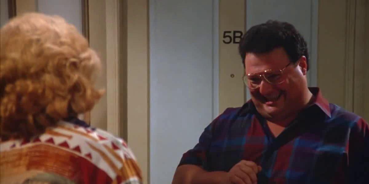 Liz Sheridan and Wayne Knight on Seinfeld