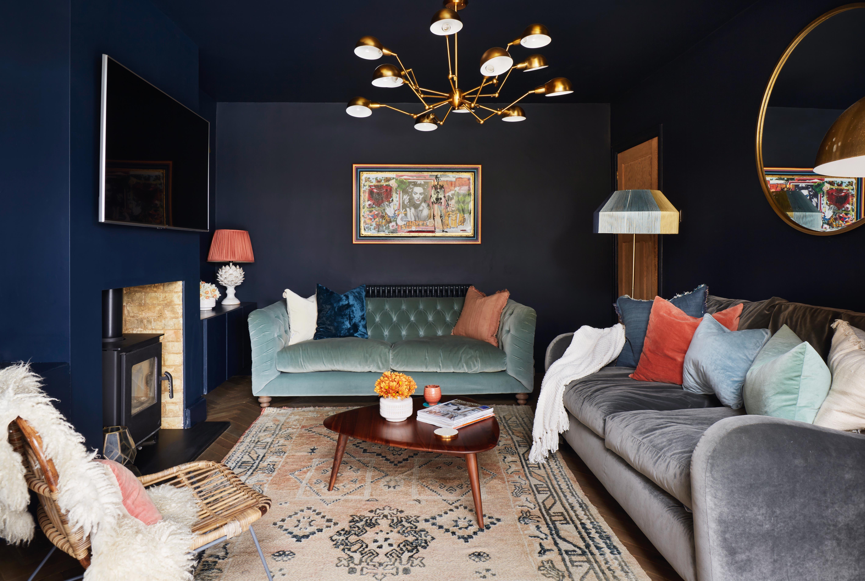 11 Blue Living Room Ideas To Show, Blue Living Rooms