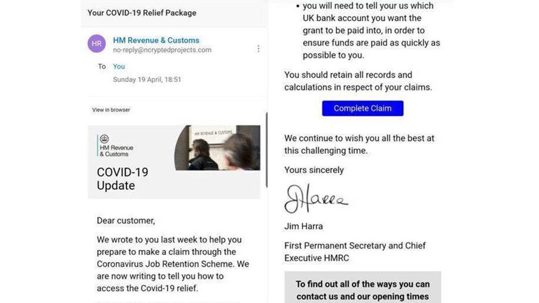 Hackers exploit HMRC Coronavirus Job Retention Scheme with phishing email scam