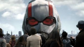 Ant-Man towers over San Francisco tourists.