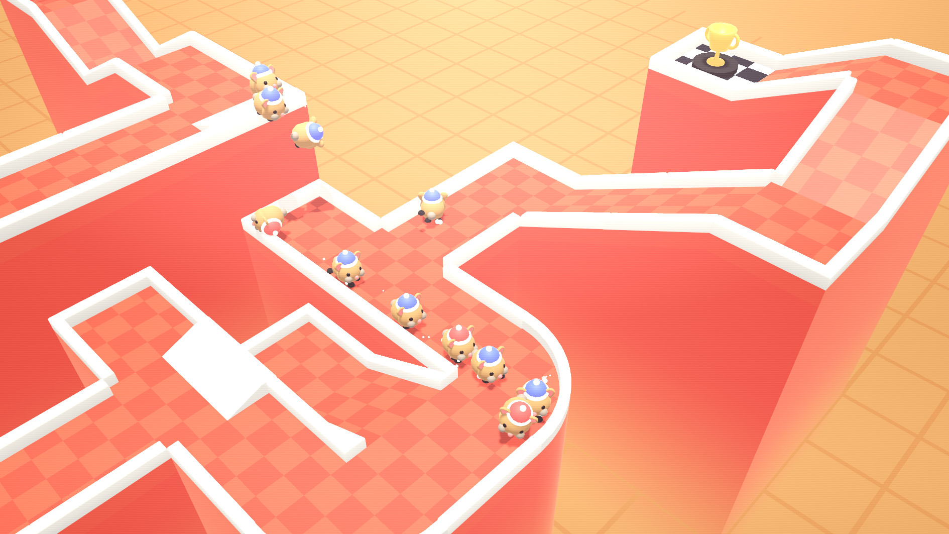 Build rodent racetracks and bet on the outcome in Hamster All-Stars