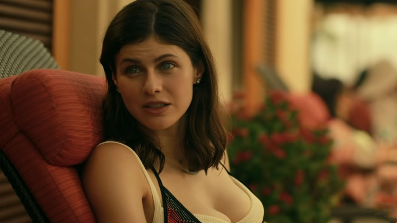 Here's Alexandra Daddario Going For It And Jumping Off A Cliff In A Bikini Like A Pro
