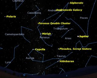 Looking eastward on a pleasant October evening, you can spot a variety of deep sky treats.