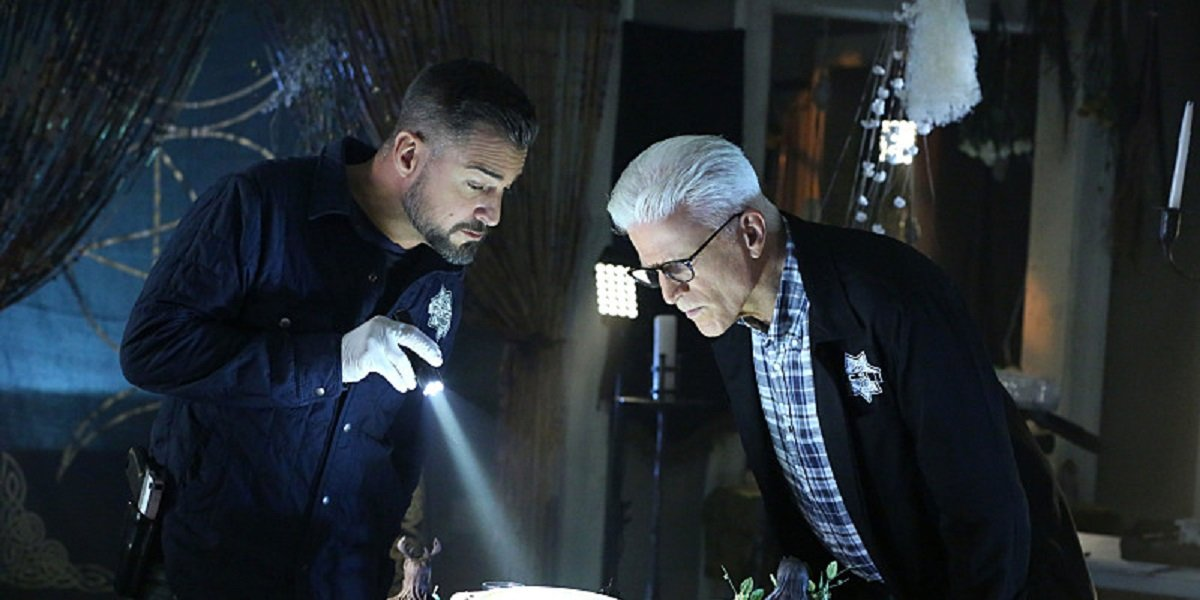Ted Danson and George Eads in CSI