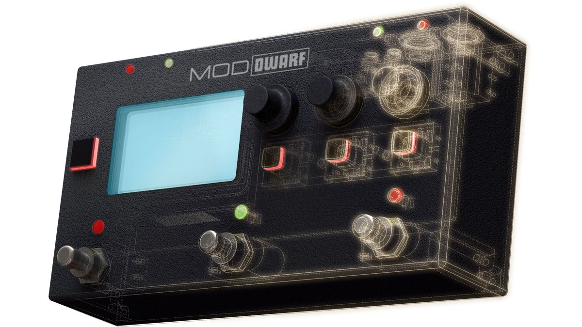 The MOD Dwarf puts effect and instrument plugins in a stage-ready stompbox