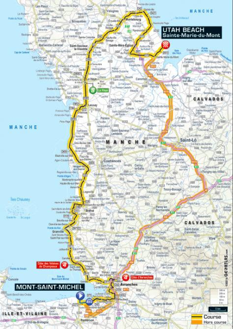 Tour De France 2016 Stage 1 Map