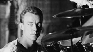 Neil Peart in April 1984