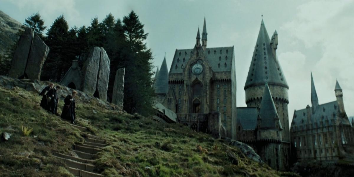 Hogwarts grounds in Harry Potter movie, Prisoner of Azkaban