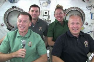 STS-135 Crew Talks to Reporters