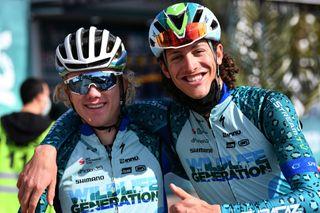 Alex Hoehn (L) with Wildlife Generation teammate Noah Granigan at Tour of Turkey