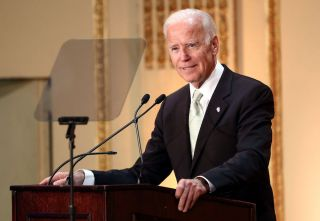 Former Vice President Joe Biden speaks on stage at the HELP USA 30th Anniversary Event in New York City on March 16, 2017.