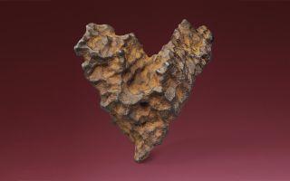 heart of space meteorite