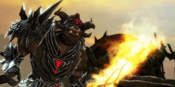 An angry monster in Guild Wars 2.