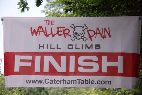 Finish banner, Waller Pain hillclimb 2010