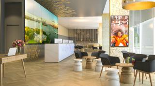 LG Displays in a hotel lobby