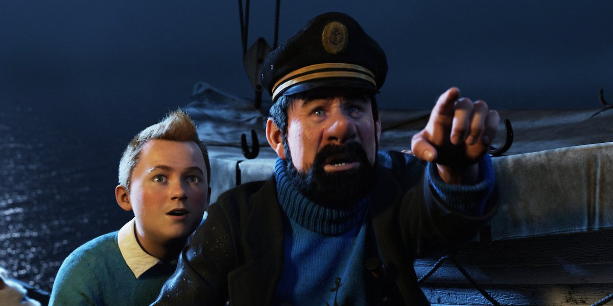 Jamie Bell and Andy Serkis in The Adventures of Tintin