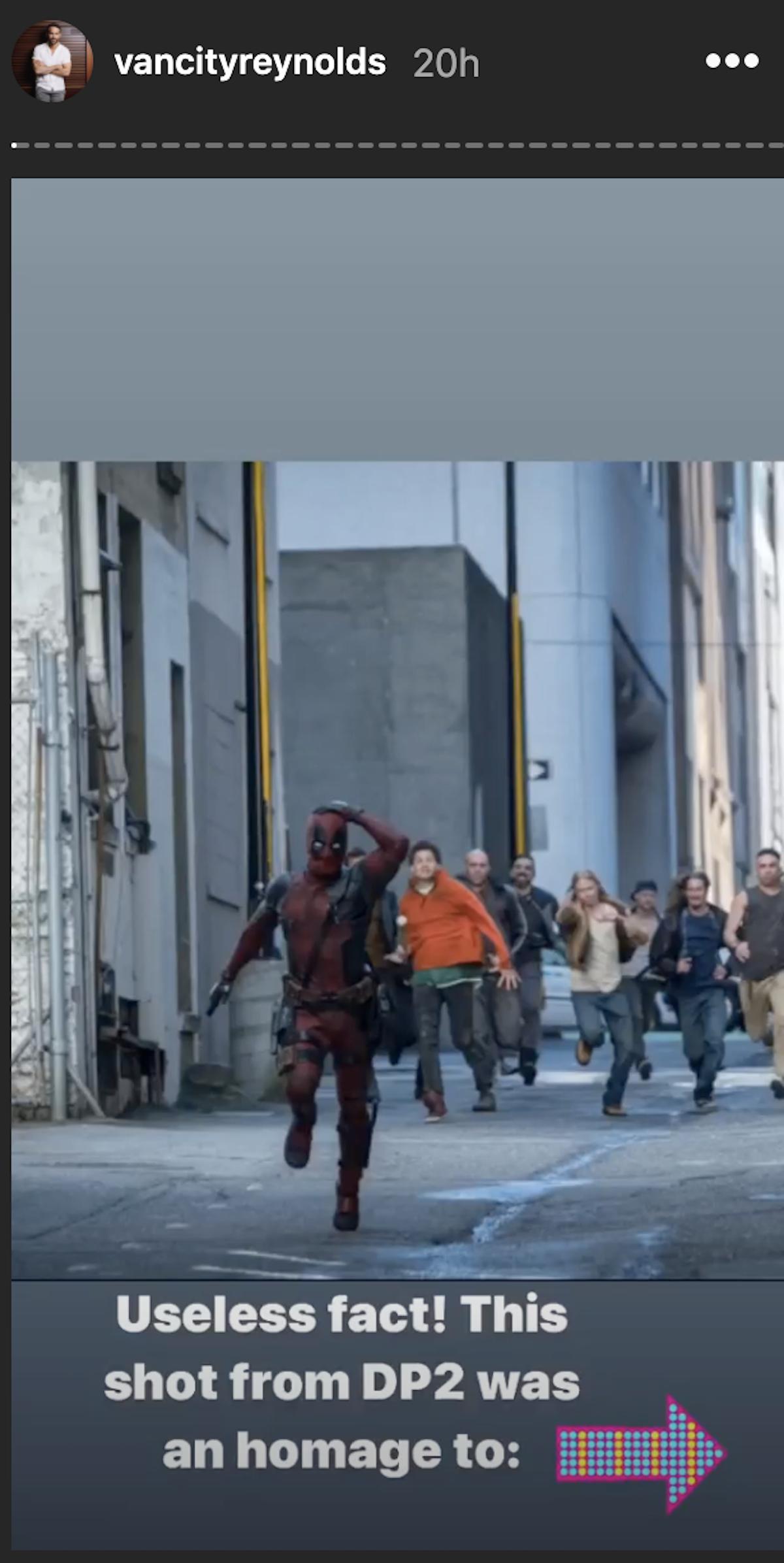 Deadpool running away