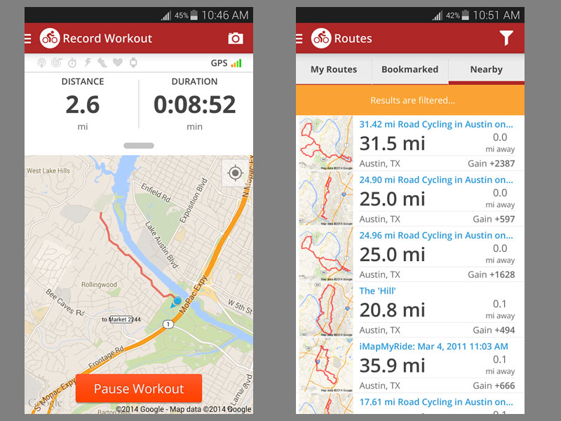 map my ride cycling app best cycling apps for iphone and android