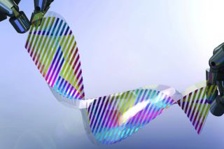 Color-changing silicon layer
