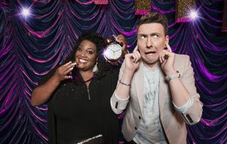 Alison and Joe pull funny faces - The Time It Takes – Everything you need to know about the new BBC1 Saturday night show