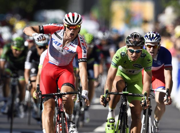 Alexander Kristoff wins stage twelve of the 2014 Tour de France