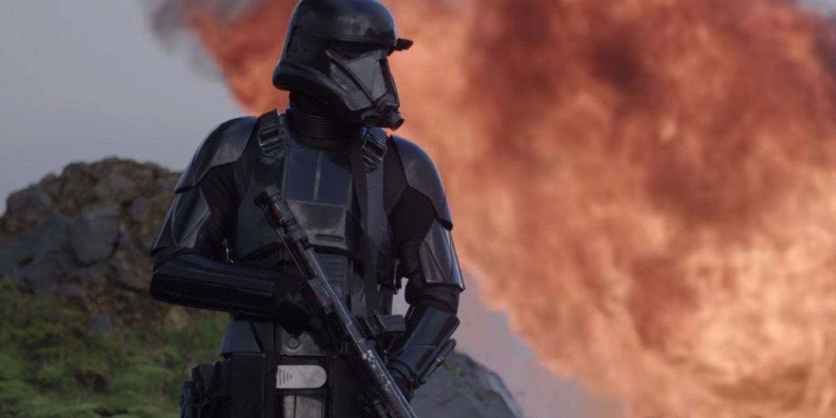 A death trooper in Rogue One: A Star Wars Story