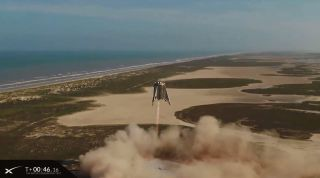 SpaceX launched its Starhopper rocket prototype on its highest flight ever on Aug. 27, 2019 near Boca Chica Village in South Texas.