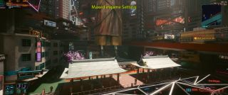 Cyberpunk 2077 max in-game setting screenshot