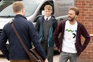David Platt comes to his sons defence and squares up to Daniel Osbourne.