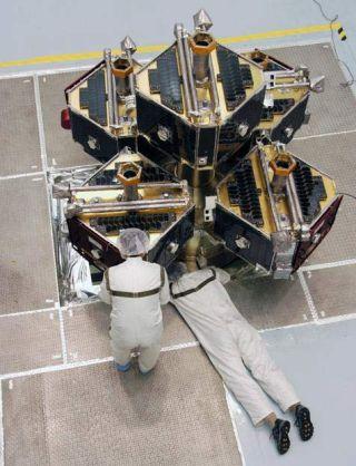 NASA Primes Five Satellites for Stormy Hunt