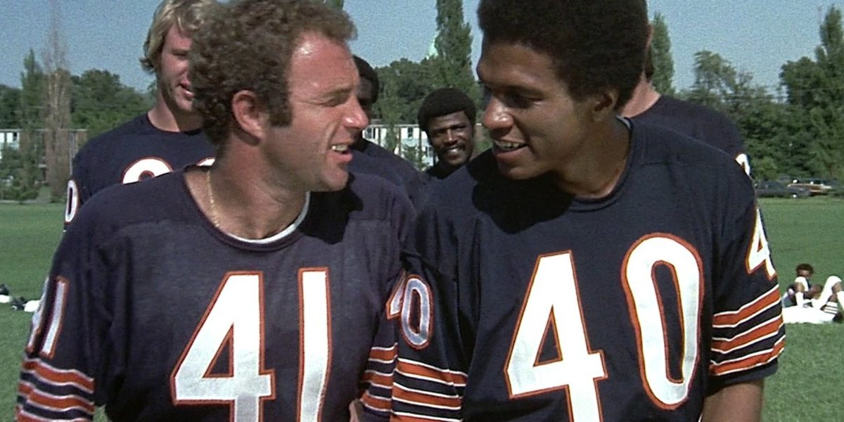 James Caan and Billy Dee Williams in Brian's Song