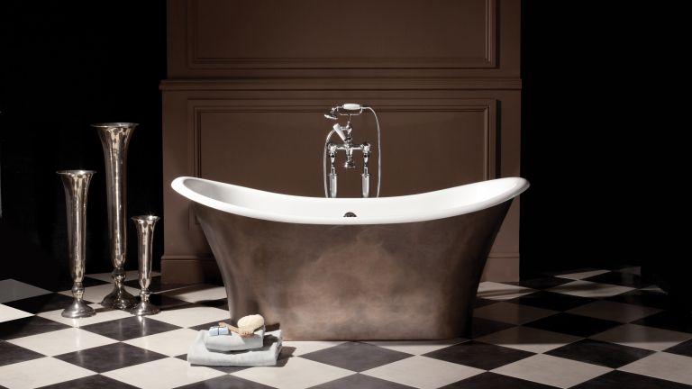 The Apollo Bath in copper by The Albion Bath Company