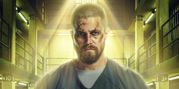 oliver in jail arrow season 7 poster