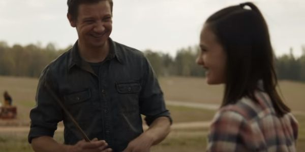 Hawkeye and Daughter from Avengers: Endgame trailer