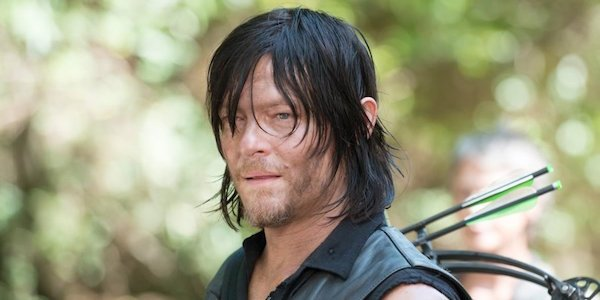 Daryl with his crossbow on his back