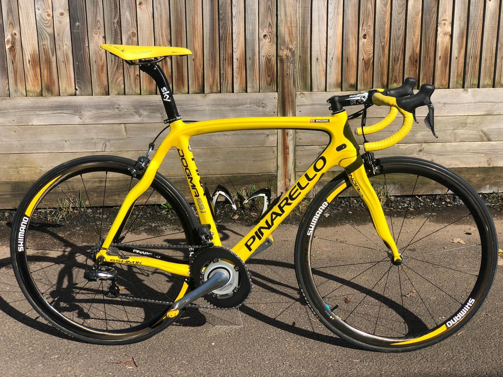 Wiggins Tour de France yellow pinarello