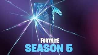 Fortnite season 5 Twitter teaser featuring a Viking axe and another rift