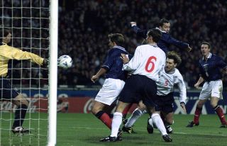 SOCCER Scotland goal