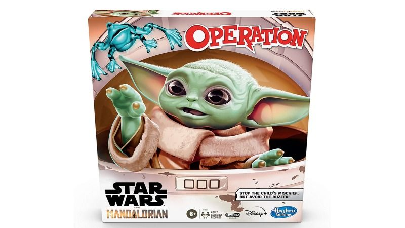 Play Trouble and Operation with Baby Yoda in Hasbro's Mandalorian Edition Games For Prime Day