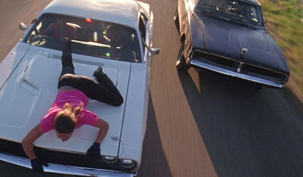 Zoe Bell playing ships mast in Death Proof