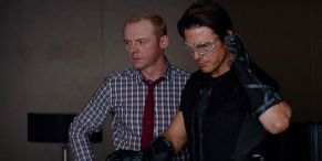 Mission: Impossible's Simon Pegg Cuddles With Shirtless Tom Cruise In New Set Photo