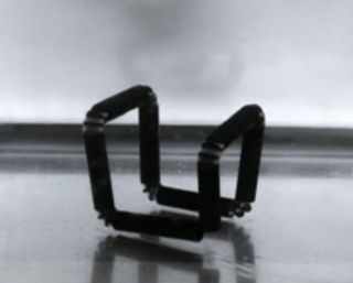 4D printing created this cube, which self-assembled once submerged in water.