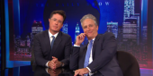 Stephen Colbert Went To The First Daily Show Press Conference To Ask Why Jon Stewart Was Hired And Not Him